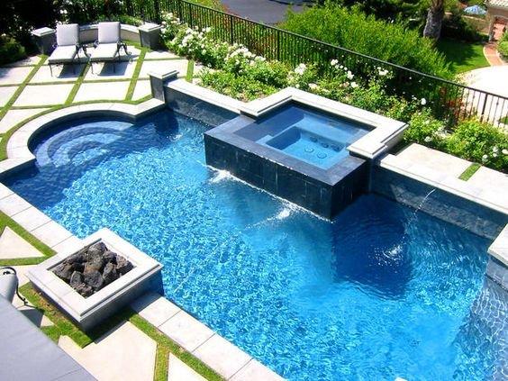 piscina na casa de campo