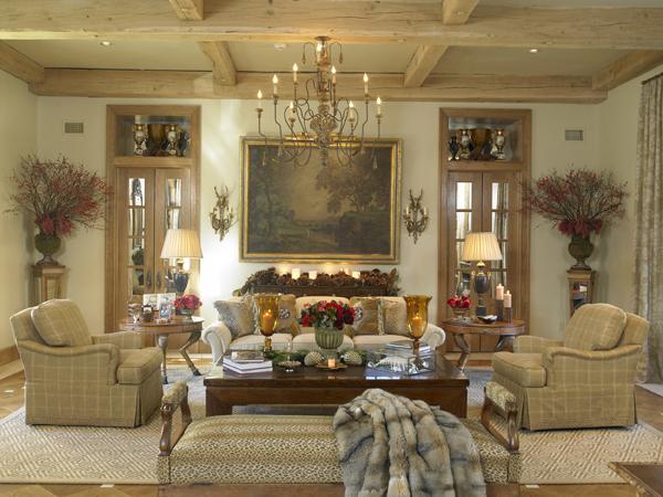 decoração sala de estar italiana