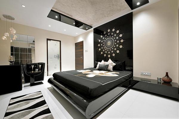 preto na decoração do quarto