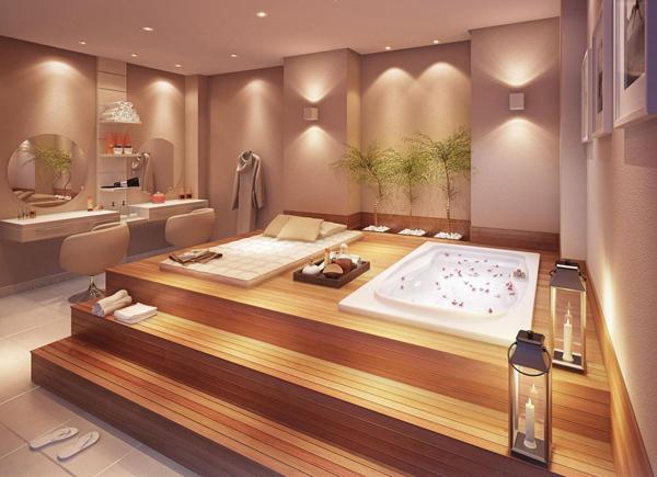sala de banho decorada