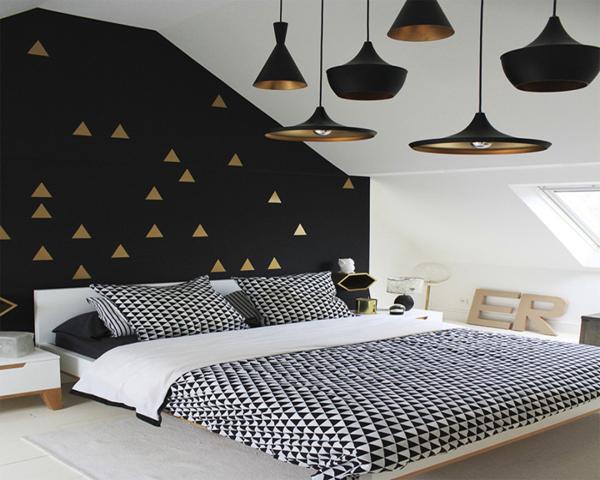 quarto com preto na decoração