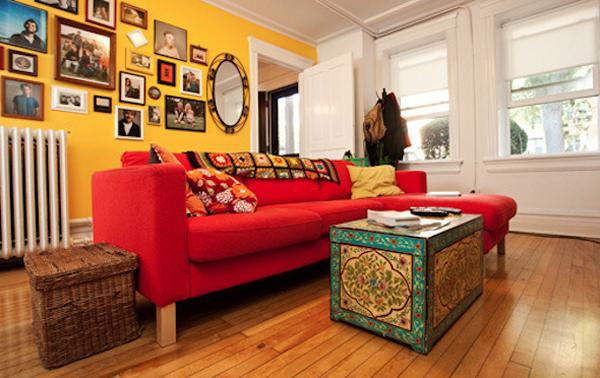 decorar móveis coloridos