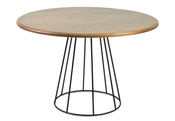 mesa jantar redonda base ferro