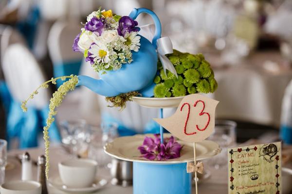 arranjo de flores casamento disney