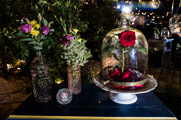casamento disney com flores