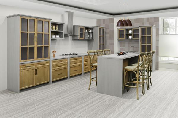 cozinha modulada em madeira Atenas