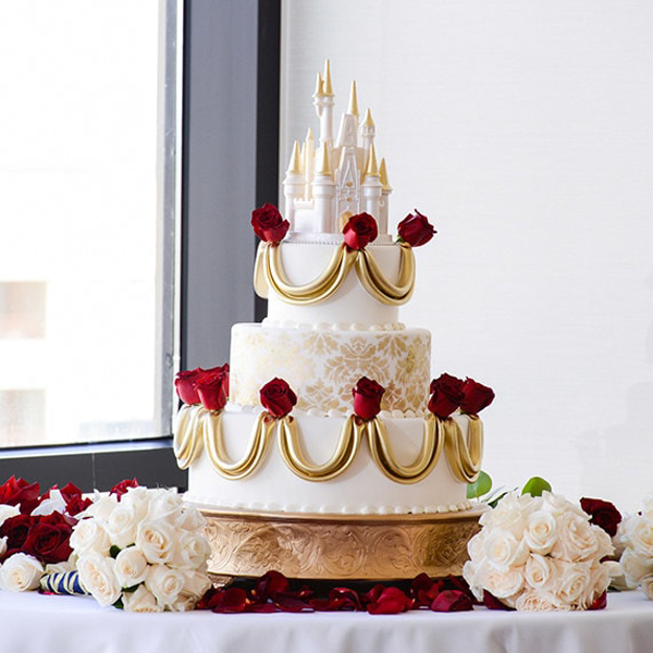 bolo disney casamento