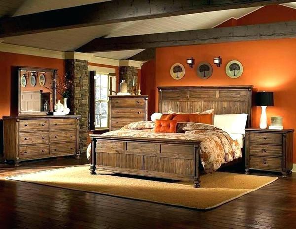 cama de quarto rústico