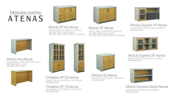 cozinha modulada em madeira maciça Atenas