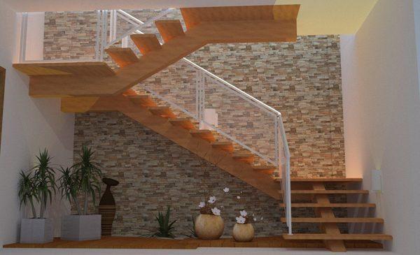 pedras na escada