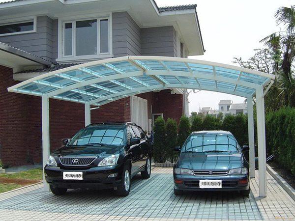 Garagem com cobertura retrátil