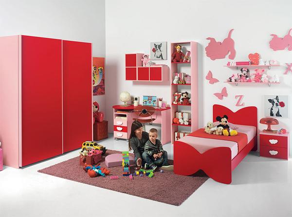 vermelho na decoração infantil