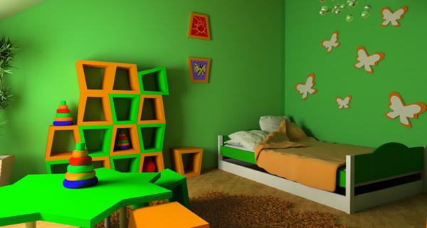 quarto de criança colorido