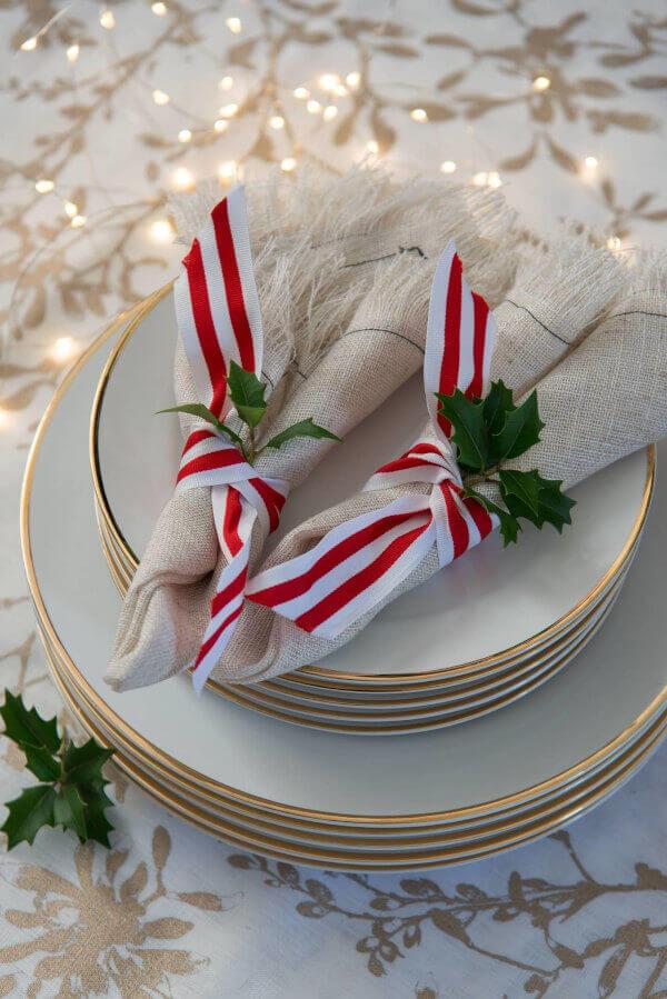 mesa de Natal decorada
