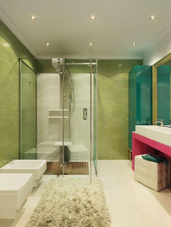 Banheiro nas cores Pop Art