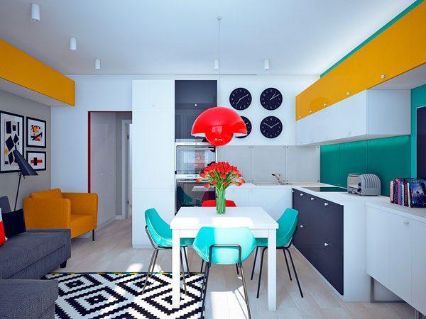 Cozinha om estilo Pop Art