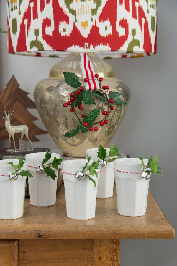 copos decorados para Natal