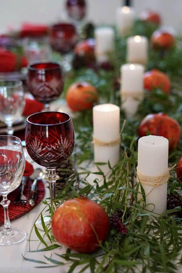 velas decoração natalina