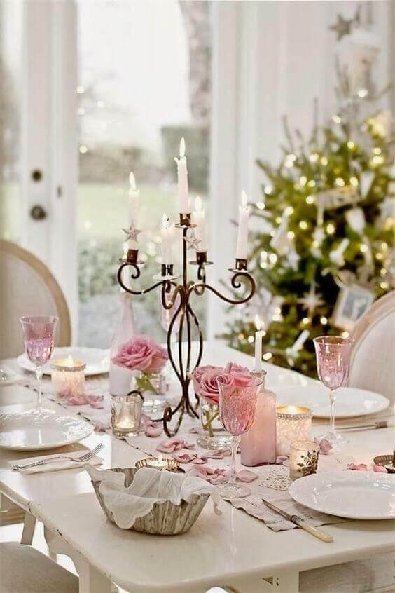 como decorar mesa de natal