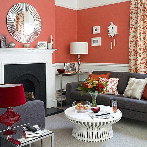 Living Coral na decoração de interiores