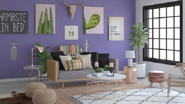 Sala de estar sobrecarregada