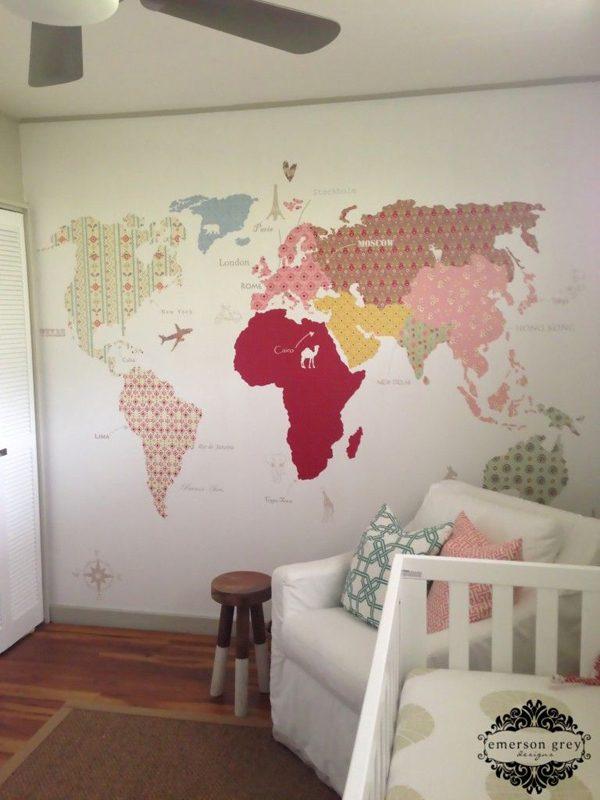 Mapas na decoração cool