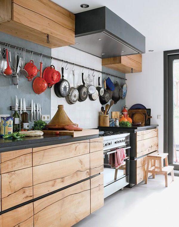 Cozinha com madeira