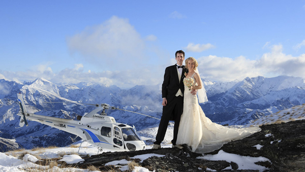 Elopement wedding em Queenstown, Nova Zelândia