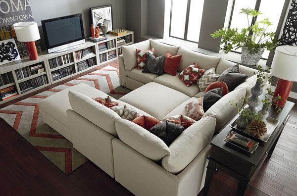 sofá-cama na decoração da sala de tv