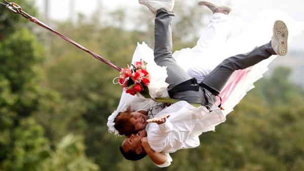 casamento com bungy jumping