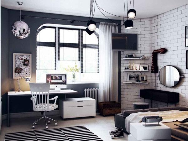 área de estudos no quarto