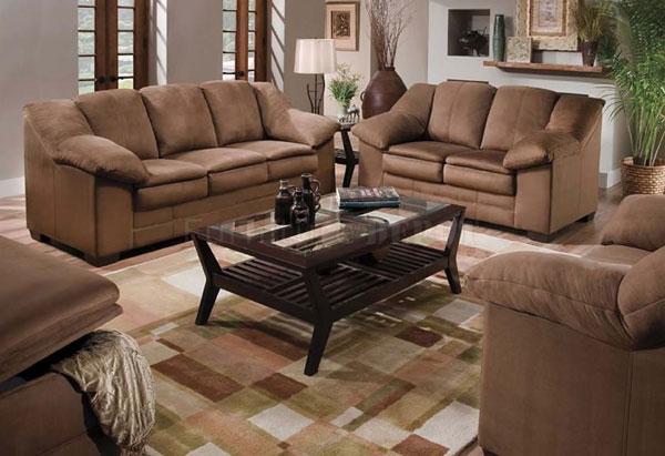 sofá com tecido suede
