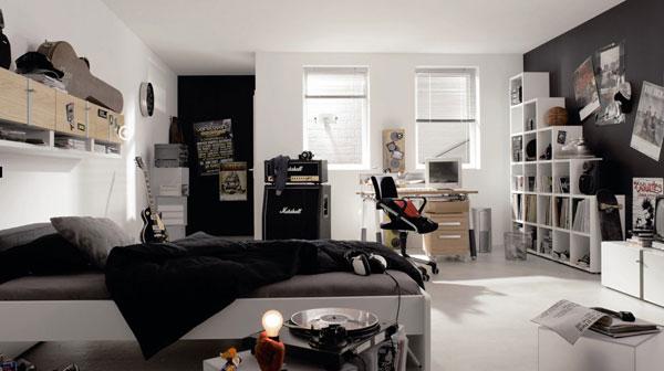 quarto adolescente decoração preta