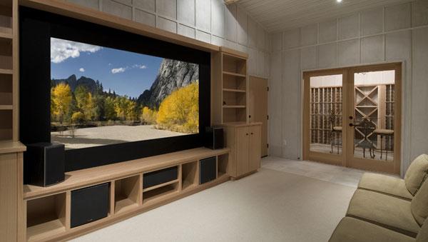 tv grande na sala