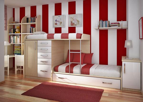 quarto adolescente vermelho