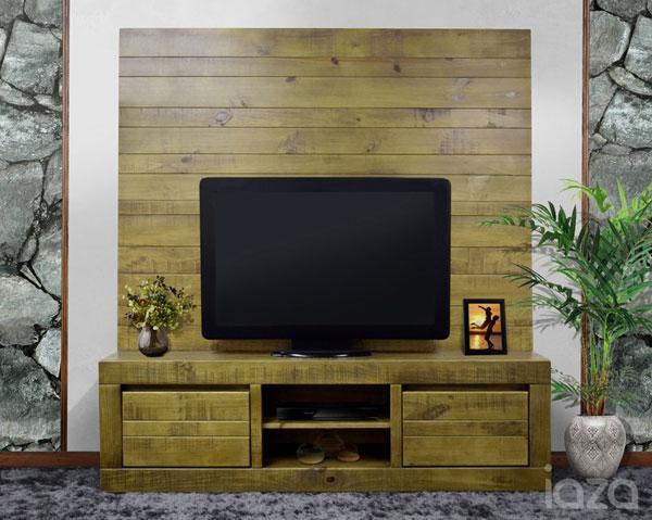 Rack rústico para sala de TV