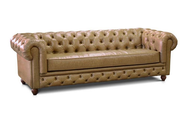 sofá chesterfield de courino