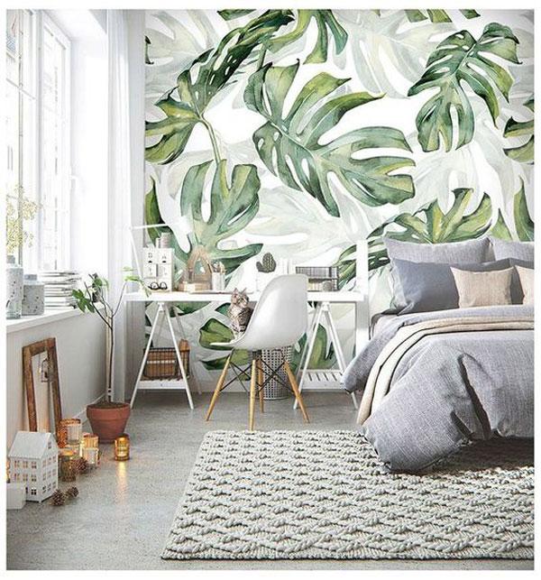papel de parede natural na decoração