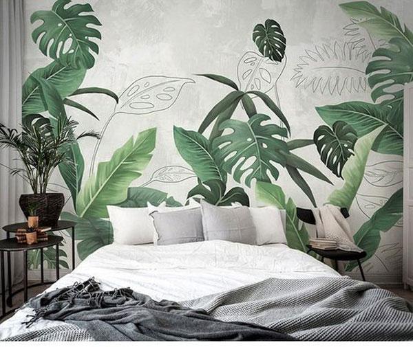 papel de parede verde na decoração
