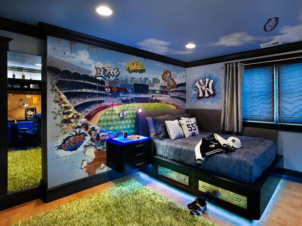 decoração criativa em quarto adolescente
