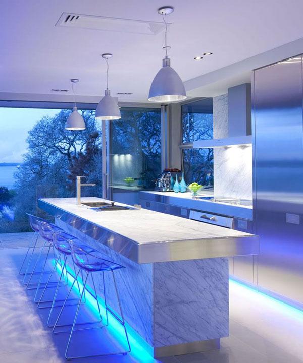 design futurista na decoração