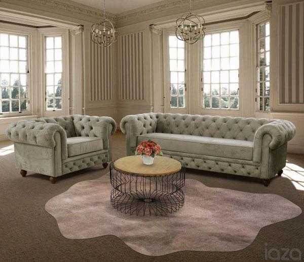 sofá chesterfield veludo