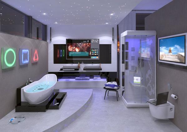 banheiro futurista