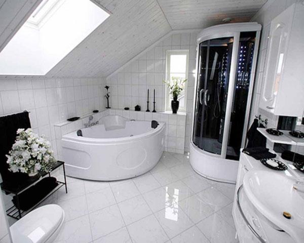sala de banho futurista