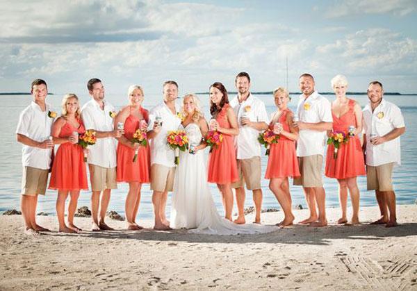 casamento na praia Pantone 2019