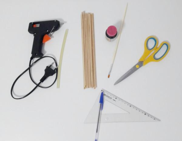 materiais para decoração com palitos