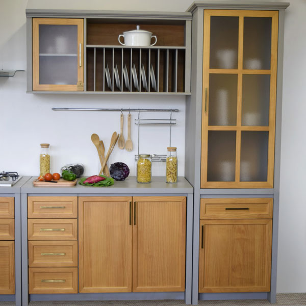 cozinha de madeira para casa de campo