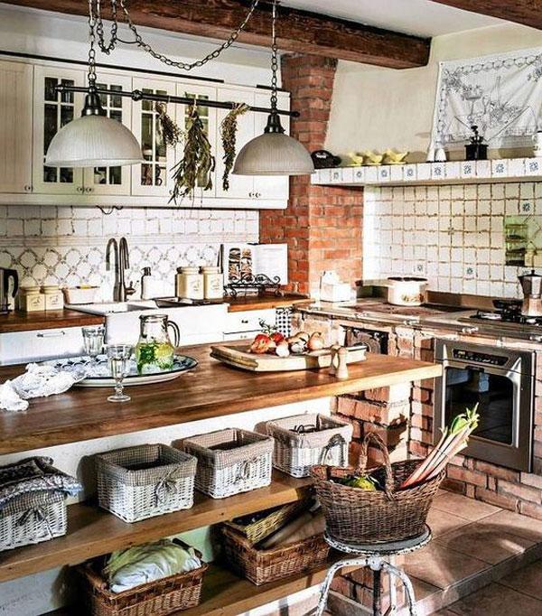 cozinha de casa de campo