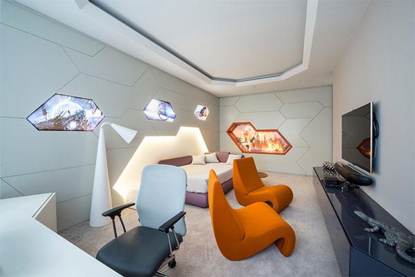 estilo futurista na decoração