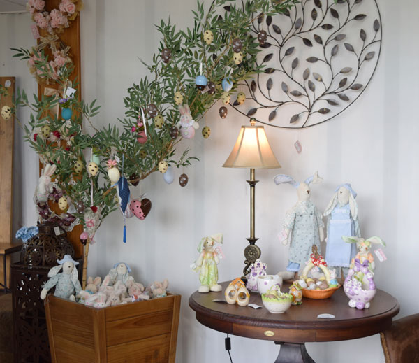 árvore de páscoa decorada